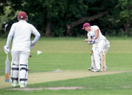 "Gary Hopton pushes a single for his ""50"""