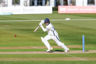 Jordan Thompson cover drives for four on