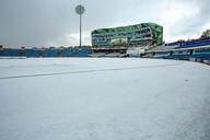 Snow, hail stopped play at Headingley 10