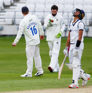 VAGADIA, Yash out for 49, v Durham, Frie