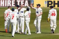 McIlroy celebrates Wicket of Fisher_61Z3