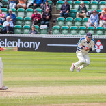 Carl safely takes the catch that gives Yorkshire a 3 run victory!