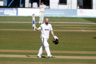 Lyth acknowledges his 100, Kent, 17-4-20