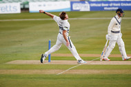 David Willey opening for Yorkshire on Da