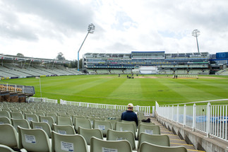 Crowd beginning to build here at Edgbast