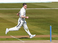 Jordan Thompson's post wicket celebratio
