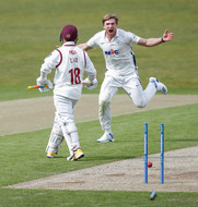 2) Willey removes Zaib's middle stump_61