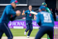 3rd ball, 1st wicket, c Root b Woakes_61