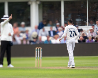 Umpire gives wkt of Davey to end Somerse