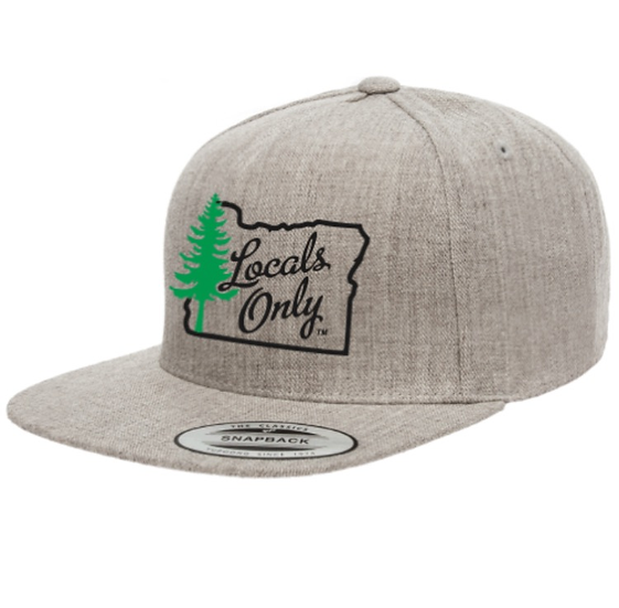 Heather Grey 5 Panel Snapback