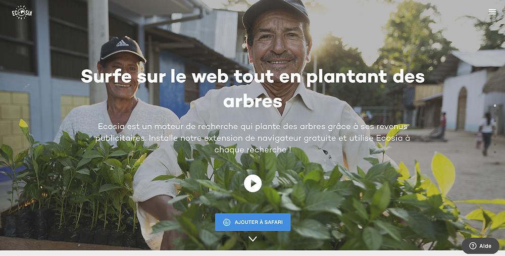Ecosia, moteur de recherche qui plante des arbres