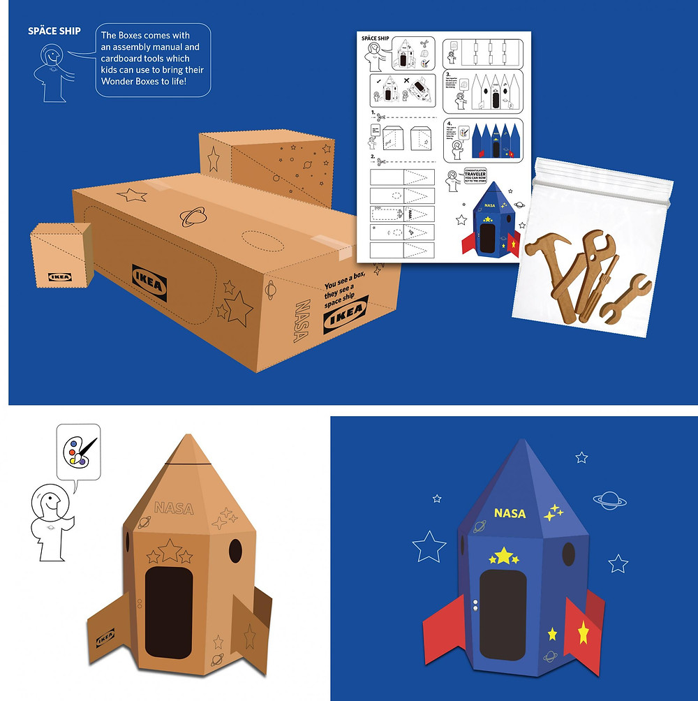 Notice du carton-fusée IKEA