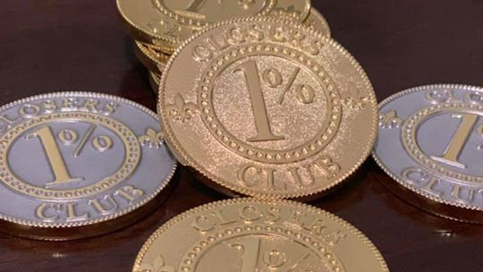 1% Percent Closers Club Challenge coin
