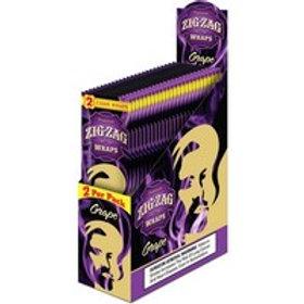 Zig Zag Wraps Grape 2 Pk 25 Ct