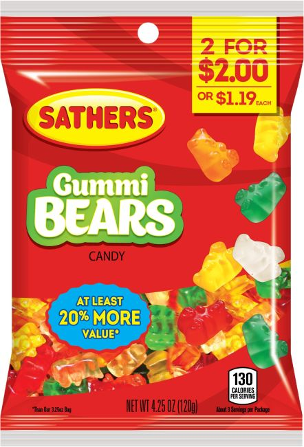 365100 - Sathers 2for$2 Gummi Bears