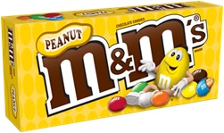 M&M'S BOX PEANUT 3.1OZ
