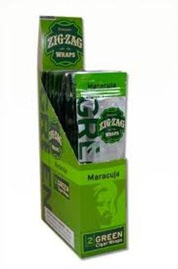 Zig Zag Wrap Green Maracuja 2 Pk 25