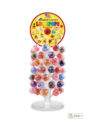 lollipop display white_pole_200x