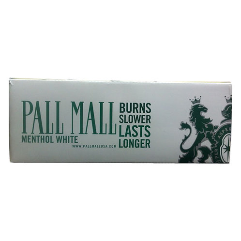 Pall Mall Menthol White 100 Box FSC