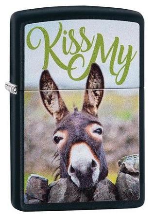 483989 - ZIPPO LIGHTER BLACKMATTE KISS M