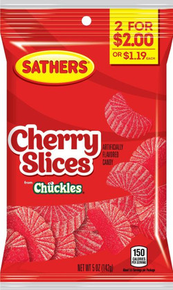 359896 - Sathers 2for$2 Cherry Slices