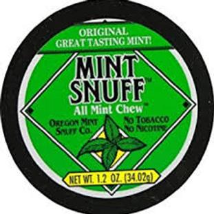Non Tobacco Mint Snuff 1.2 Oz 12 Ct