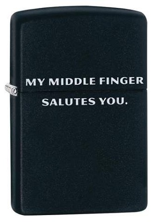 484113 - Zippo Middle Finger Salute