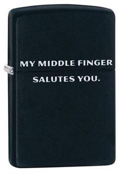 484113 - Zippo Middle Finger Salute