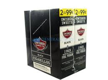 Swisher Sweet Cigarillo Black 2/99