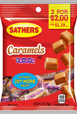305328 - Sathers 2for$2 Caramels