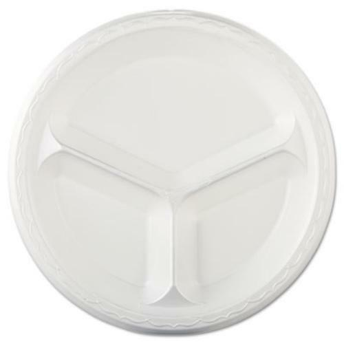 707159 - 10in foam 3 compartment plate