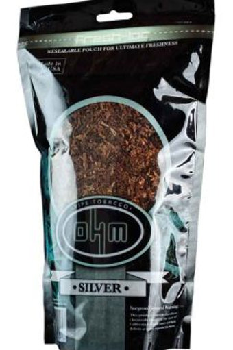O H M Silver Pipe Tobacco 6 Oz