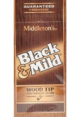 Black N Mild Wood Tip Singles 25 Ct