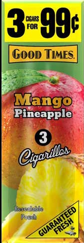 GOOD TIMES 3-$.99 POUCH MANGO PINEAPPLE