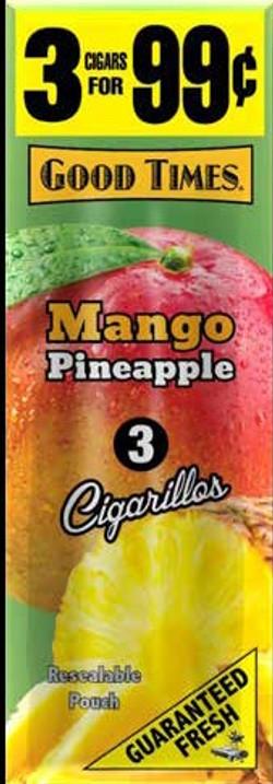 GOOD TIMES 3-$.99 POUCH MANGO PINEAPPLE