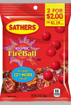 365180 -Sathers 2for$2 Atomic Fireballs