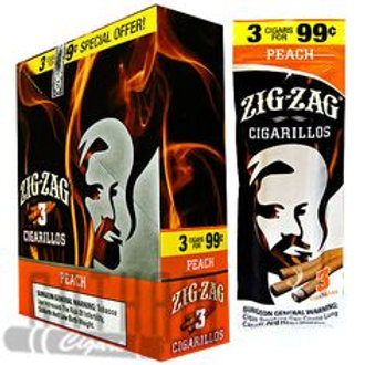 Zig Zag Cigarillo Peach 3/.99 15 Ct