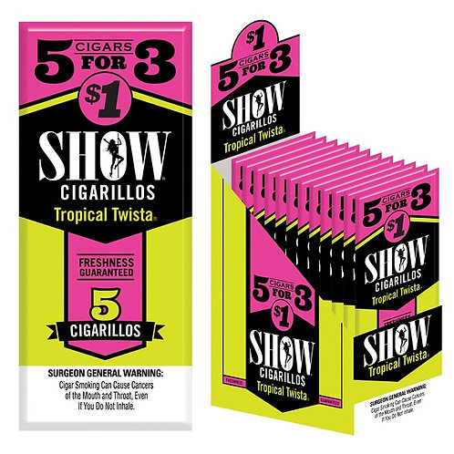 Show Cigarillo Tropical 5 For $1 15