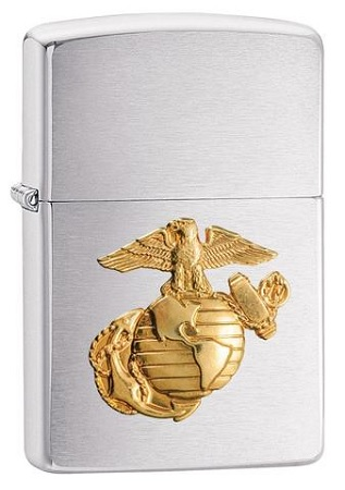 483898 -  ZIPPO LIGHTER MARINES CHROME