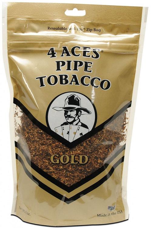 4 Aces Gold Pipe Med 6 Oz Bag