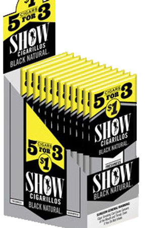 Show Cigarillo Blk Natural 5 For $1