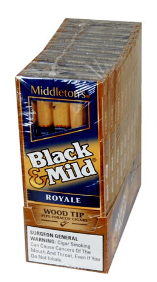 BLACK & MILD WOOD TIP ROYALE PK