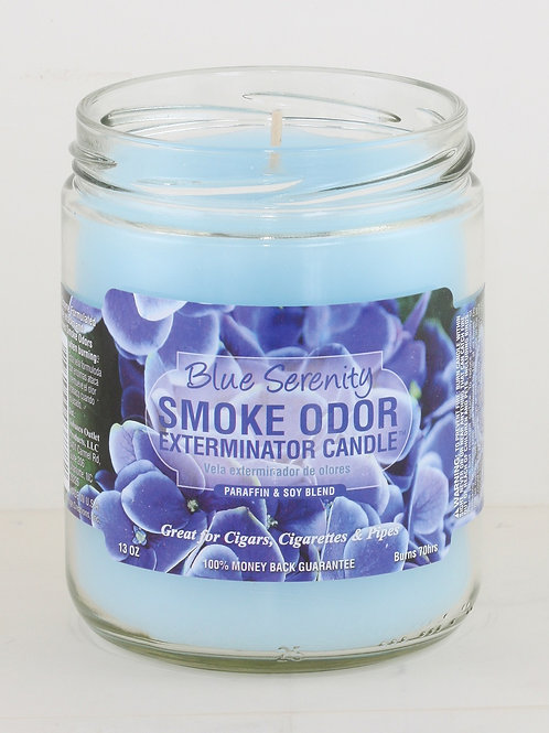 Smoke Odor Jar Blue Serenity 13 Oz