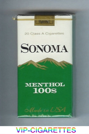 Sonoma Menthol Dark Green Box