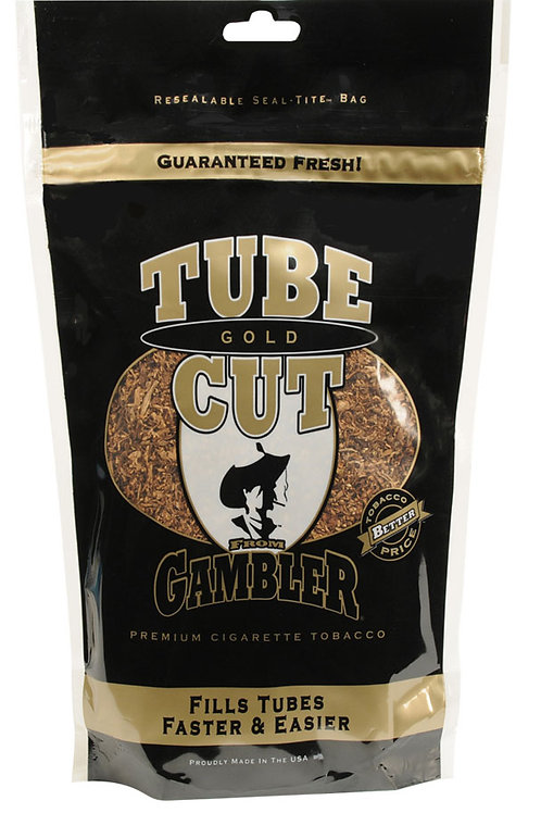 Gambler Tube Cut Gold Med Bag 3 Oz