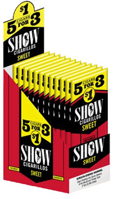 SHOW CIGARILLOS SWEET 5FOR3 $1