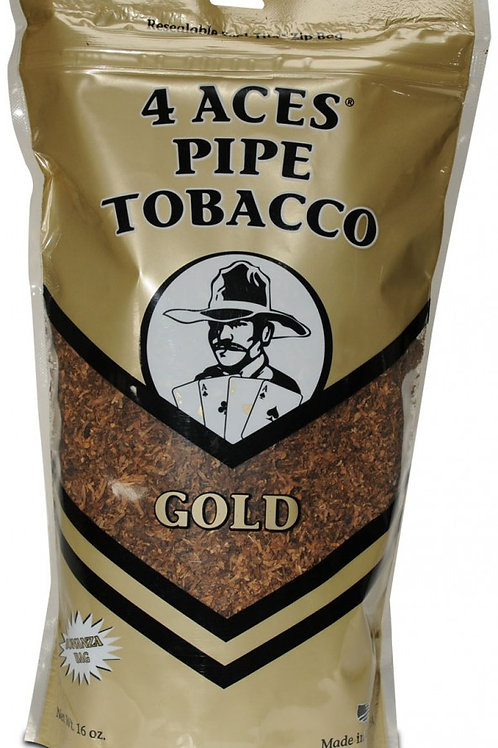 4 Aces Gold Pipe Large 16 Oz Bag