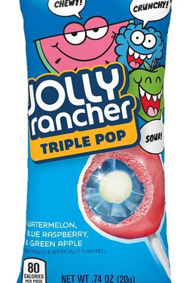 Jolly Rancher Triple Lolli Pop 18Ct
