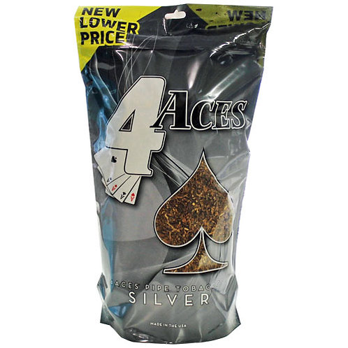4 Aces Silver Pipe Large 16 Oz Bag