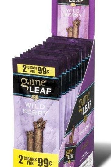 Game Leaf Cigar Wild Berry 2/.99 15